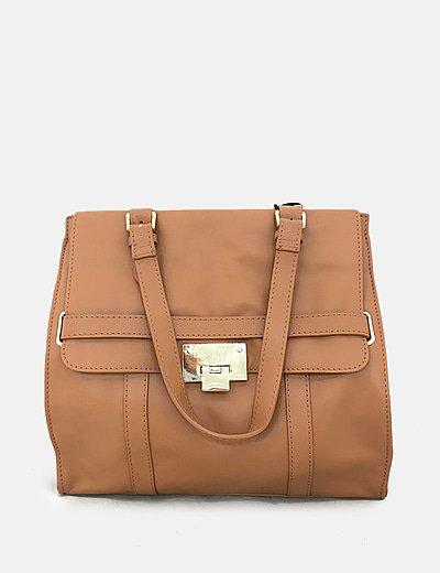 Bolso de mano satchel camel