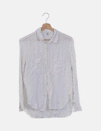Camisa blanca topos manga larga