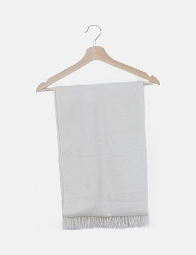 Bufanda tricot blanca