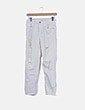 Jeans denim blanco ripped Zara