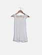 Camiseta blanca manga crochet Bershka