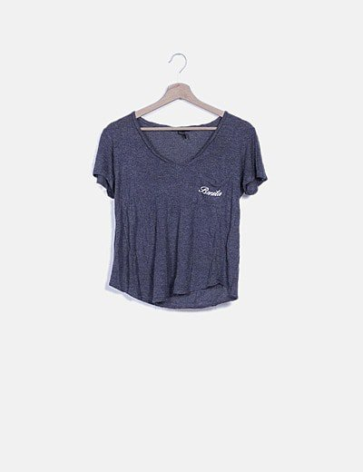 Camiseta gris print mensaje