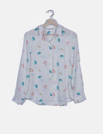 Camiseta fluida print hojas