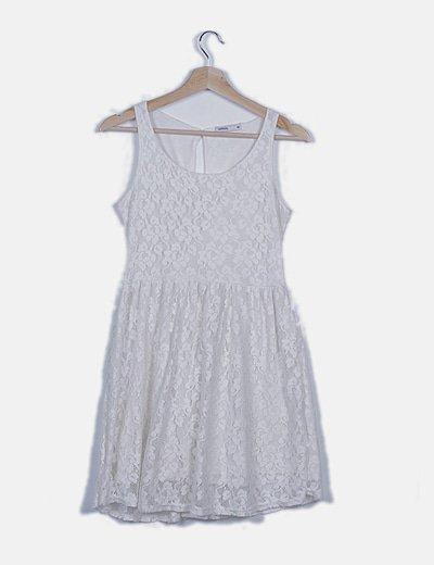 Vestido mini encaje blanco
