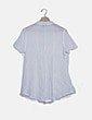 Camisa plisada blanca con lazo Menglu
