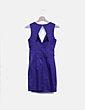 Vestido morado abertura espalda H&M
