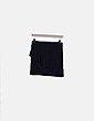 Mini falda negra cruzada con volante Zara