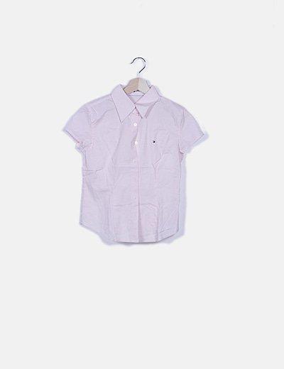 Camisa rosa detalle bordado