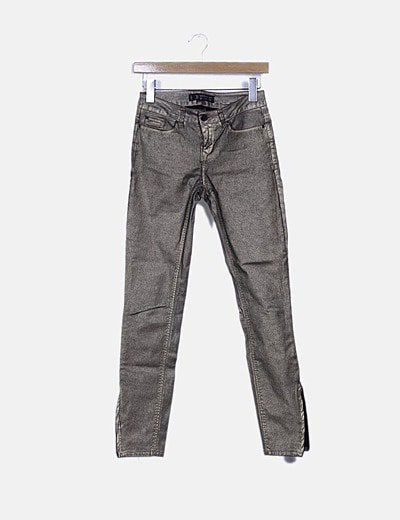 Jeans encerado dorado