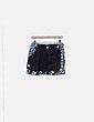 Mini falda negra fluida print combinado David Christian Madrid