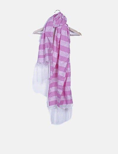 Foulard rosa de rayas