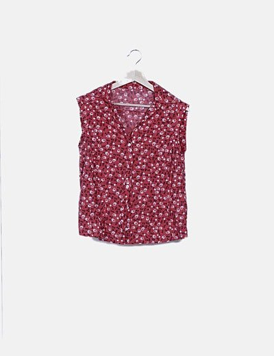 Camisa roja estampada