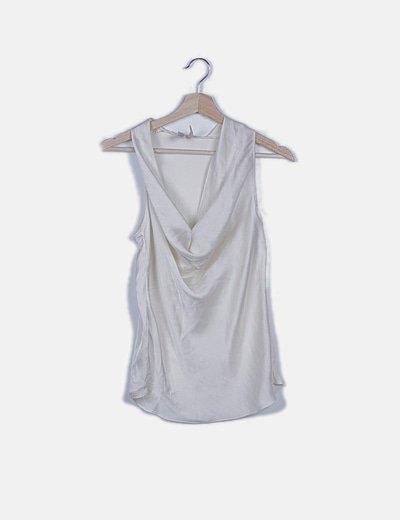 Blusa blanco roto satén