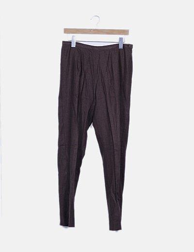 Pantalón pinza marrón