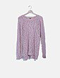 Jersey tricot rosa troquelado Pimkie