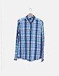 Camisa fluida azul de cuadros H&M