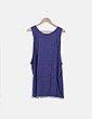 Camiseta azul marino sin mangas print combinado H&M