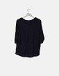 Blusa fluida negra ribetes plisados H&M