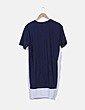 Vestido azul marino combinado detalle troquelado H&M