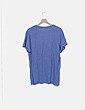 Camiseta azul jaspeado bolsillo bordado H&M