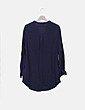 Vestido azul marino texturizado H&M