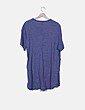 Blusa azul de rayas detalle bolsillo Mango