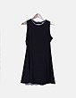 Vestido negro ribetes decorados Pimkie