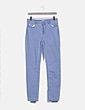 Pantalón denim pitillo azul cielo Cortefiel