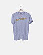Camiseta gris jaspeada print logo Baywatch