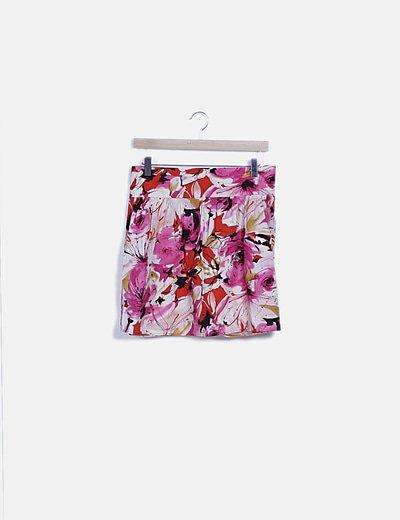 Falda mini evasé floral