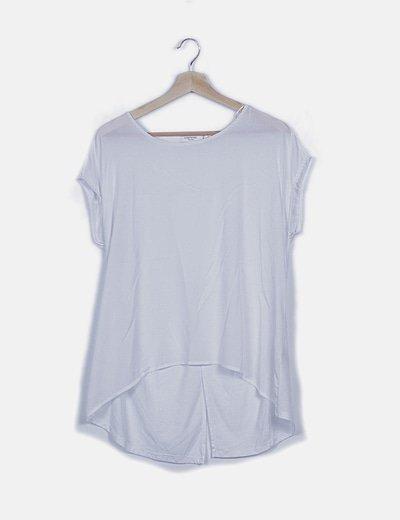 Blusa blanca asimétrica sin manga