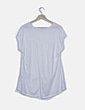 Blusa blanca asimétrica sin manga Cortefiel