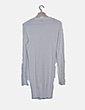 Chaqueta larga tricot blanca botones Pull&Bear