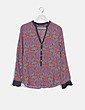 Blusa multicolor estampada Zara