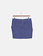 Falda azul marino botones Bershka