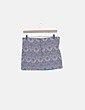 Falda azul estampada Zara