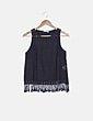 Blusa negra crochet Pull&Bear