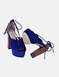Sandalia de tacón combinada bicolor H&D