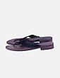 Sandalie de piel negra Lazamani