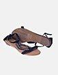 Sandalia negra con strass Best Shoes