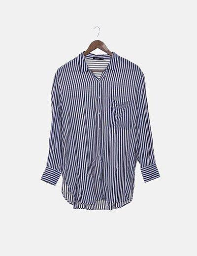Camisa de rayas bicolor