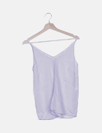 Blusa lencera lila