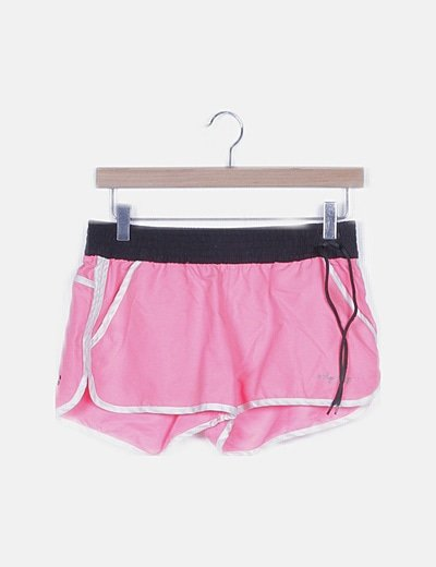 Short deportivo rosa flúor