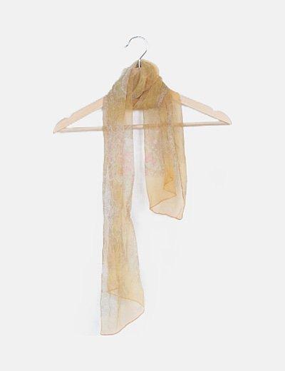 Pañuelo estampado amarillo