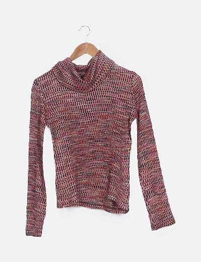 Suéter multicolor manga larga