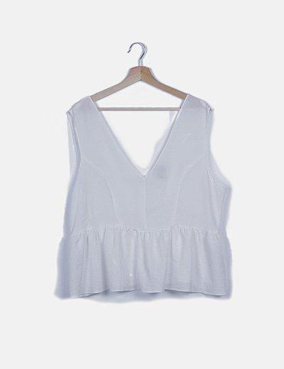 Camiseta blanca peplum