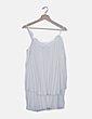 Vestido blanco plisado Zara