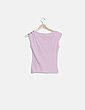 Camiseta rosa estampada granate Stradivarius