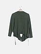 Chaqueta verde tricot cruzada Trucco