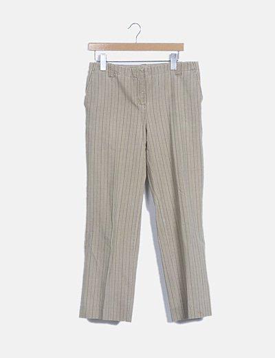 Pantalón beige rayas dipplomaticas